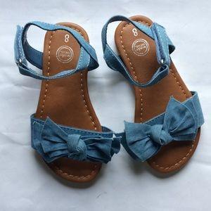 Girls chambrays lite denim shoes size 8